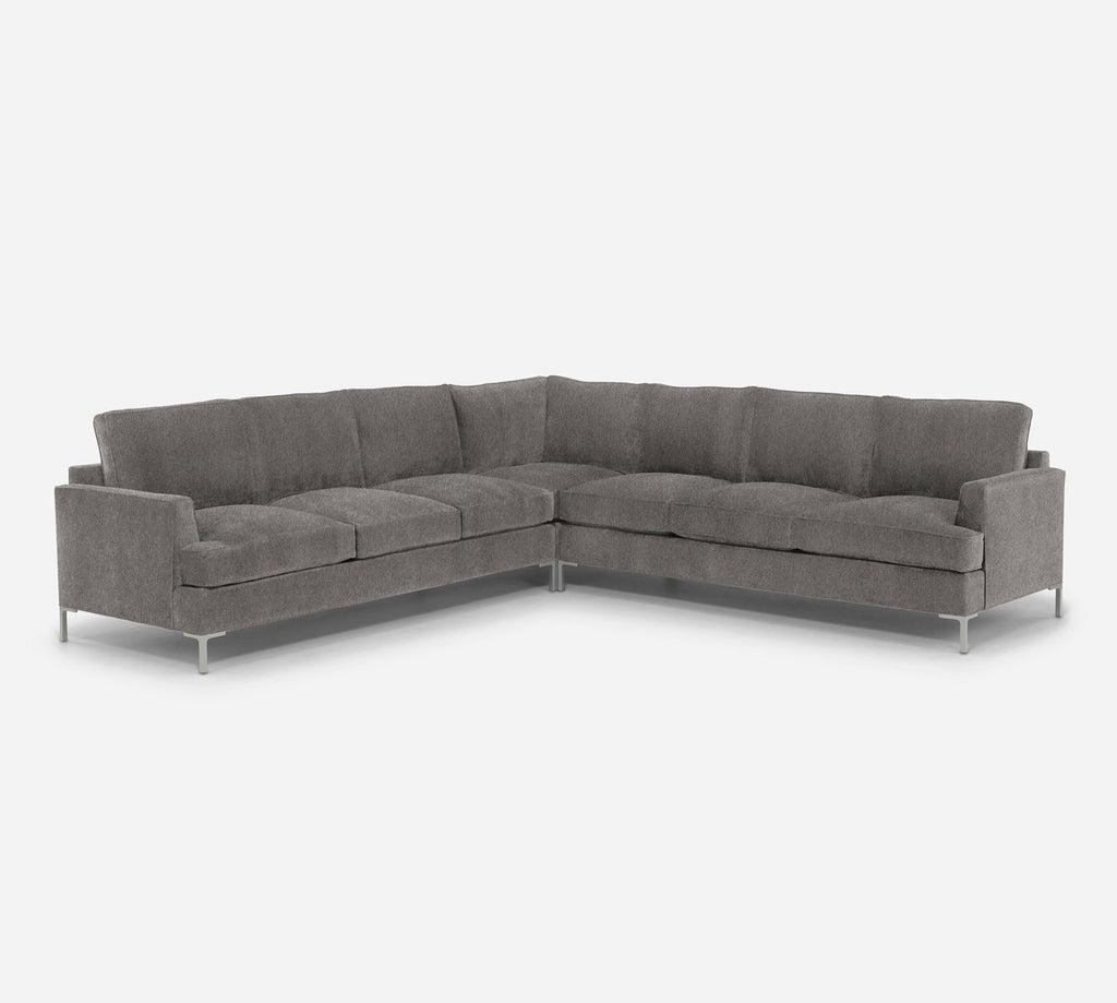 Soho Large Corner Sectional - Dawson - Platinum