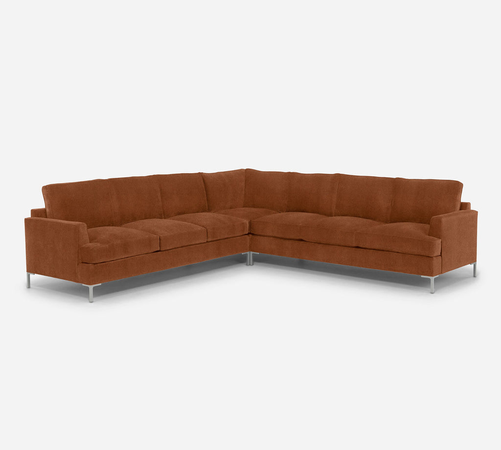 Soho Large Corner Sectional - Passion Suede - Rust