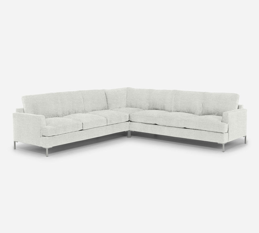 Soho Large Corner Sectional - Stardust - Ivory