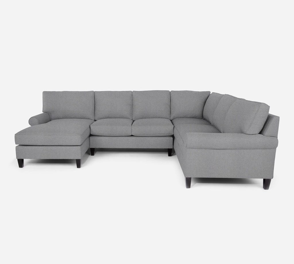 Soren LAF Chaise Corner Sectional - Coastal - Ash