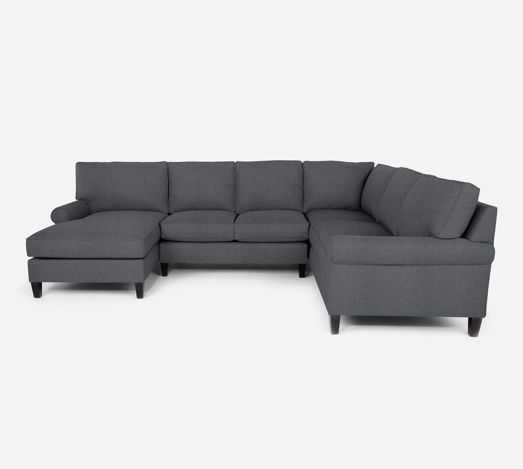 Soren LAF Chaise Corner Sectional - Coastal - Steel