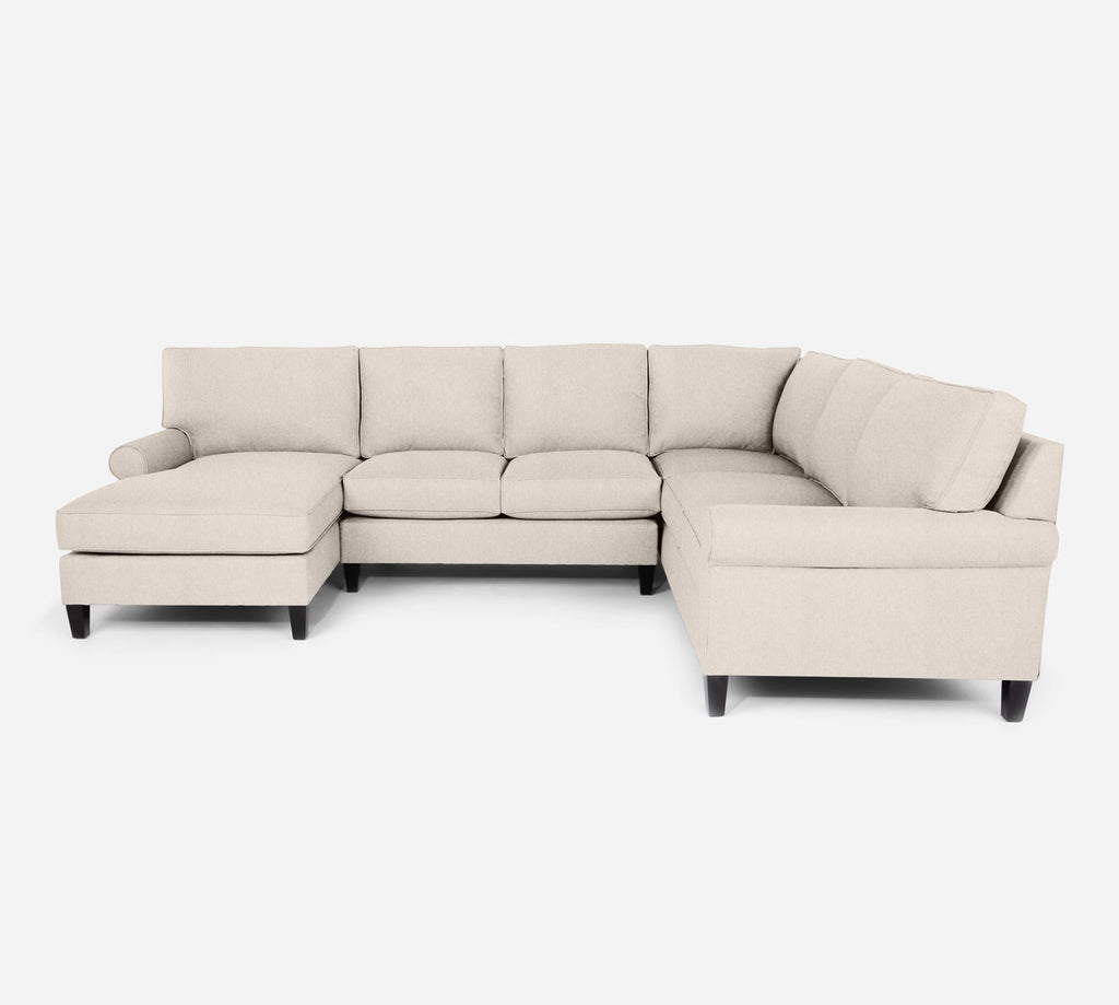 Soren LAF Chaise Corner Sectional - Kenley - Canvas