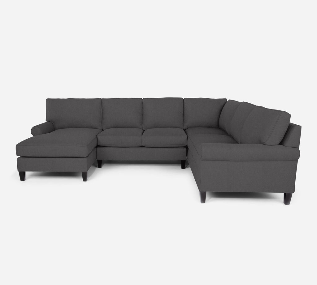 Soren LAF Chaise Corner Sectional - Kenley - Silversage