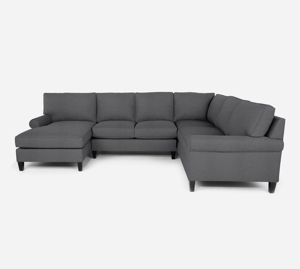 Soren LAF Chaise Corner Sectional - Key Largo - Ash
