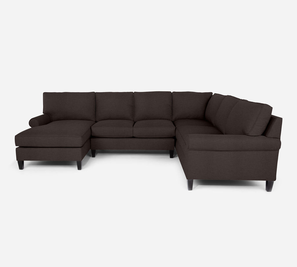Soren LAF Chaise Corner Sectional - Key Largo - Mocha