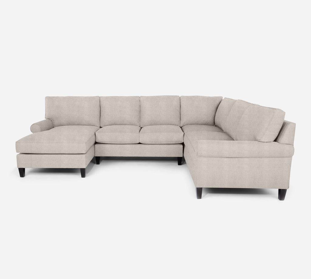 Soren LAF Chaise Corner Sectional - Passion Suede - Oyster