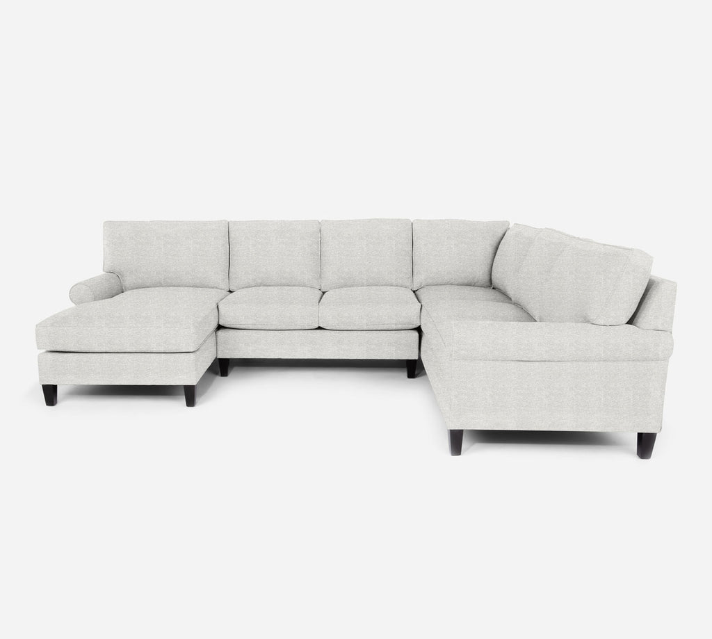 Soren LAF Chaise Corner Sectional - Stardust - Ivory