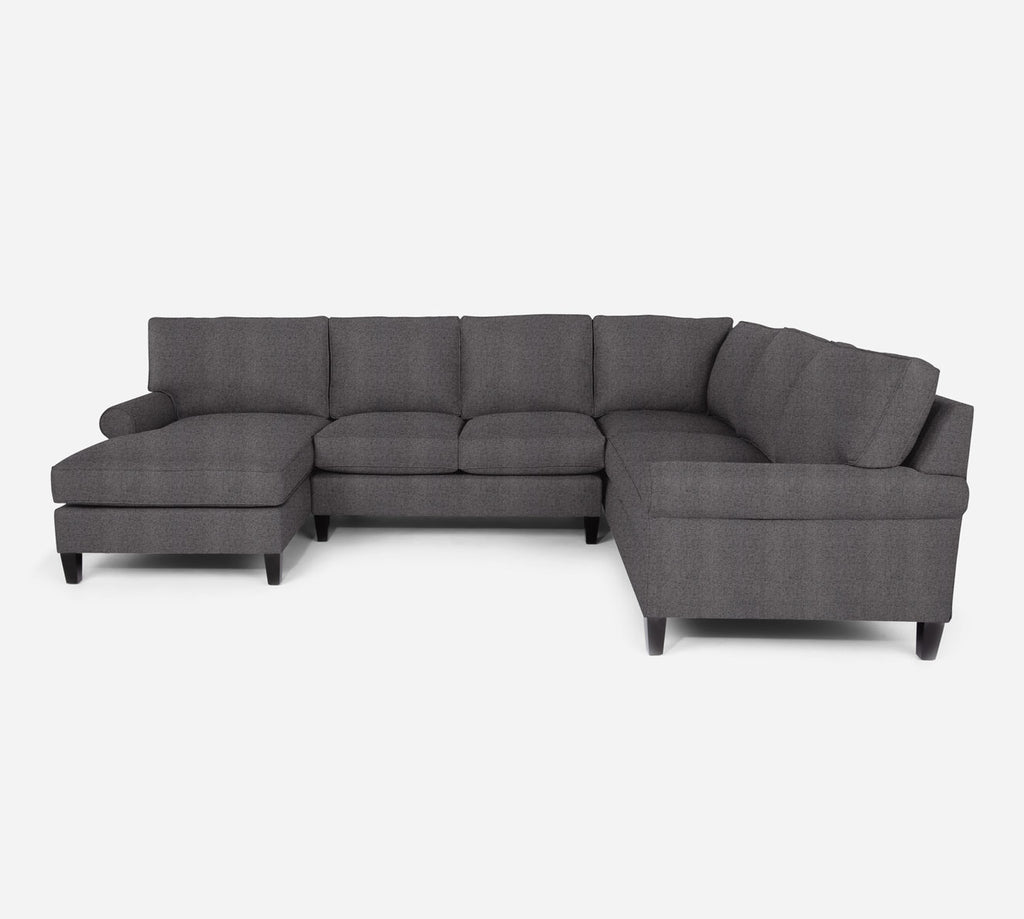 Soren LAF Chaise Corner Sectional - Theron - Concrete