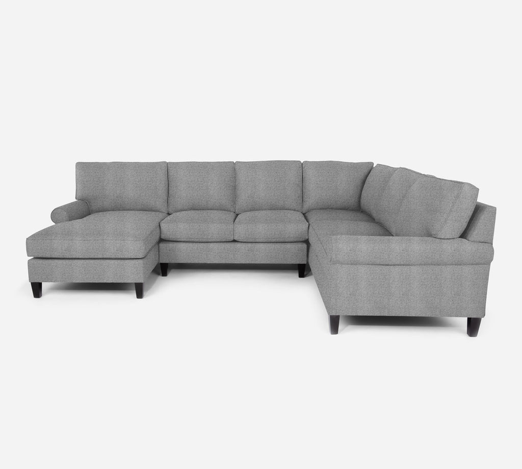 Soren LAF Chaise Corner Sectional - Theron - Haze