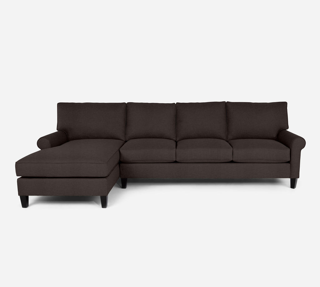Soren LAF Chaise Sectional - Key Largo - Mocha