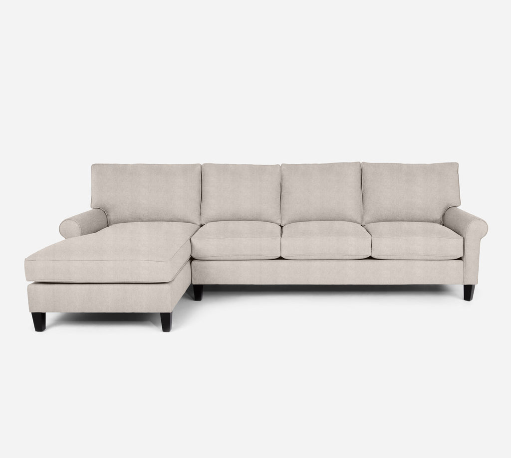 Soren LAF Chaise Sectional - Passion Suede - Oyster