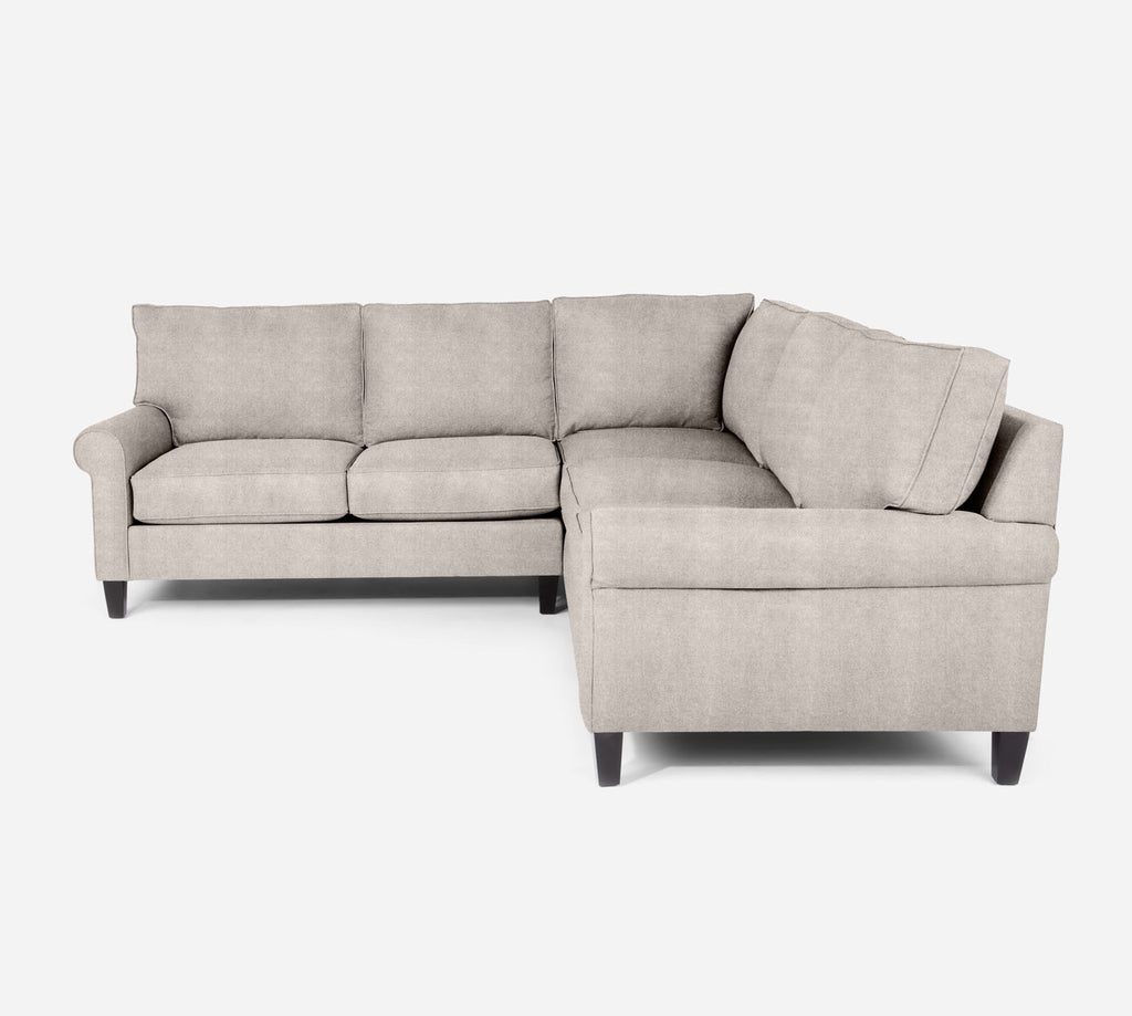 Soren LAF Corner Sectional - Passion Suede - Oyster