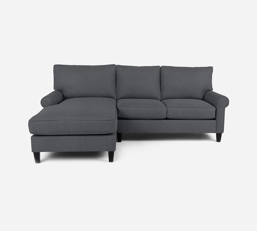 Soren Sectional Apartment Sofa w/ LAF Chaise - Coastal - Steel