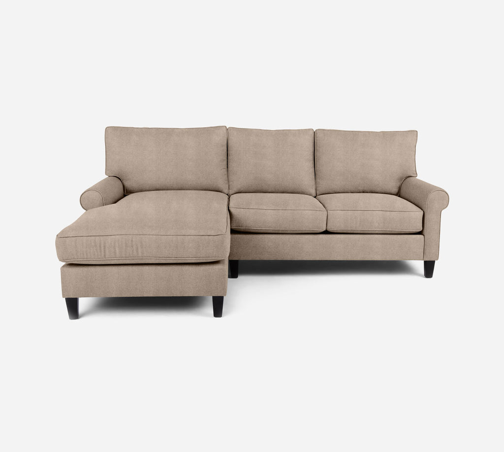 Soren Sectional Apartment Sofa w/ LAF Chaise - Passion Suede - Camel