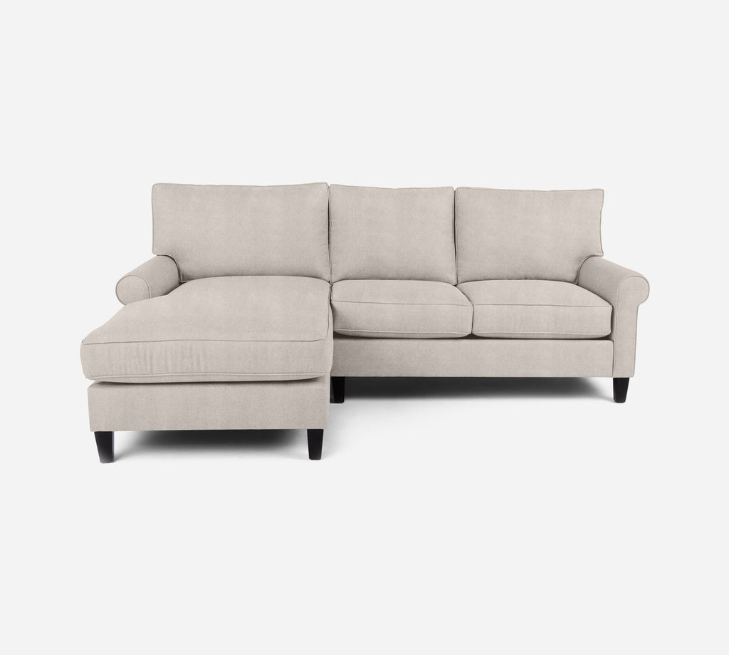 Soren Sectional Apartment Sofa w/ LAF Chaise - Passion Suede - Oyster