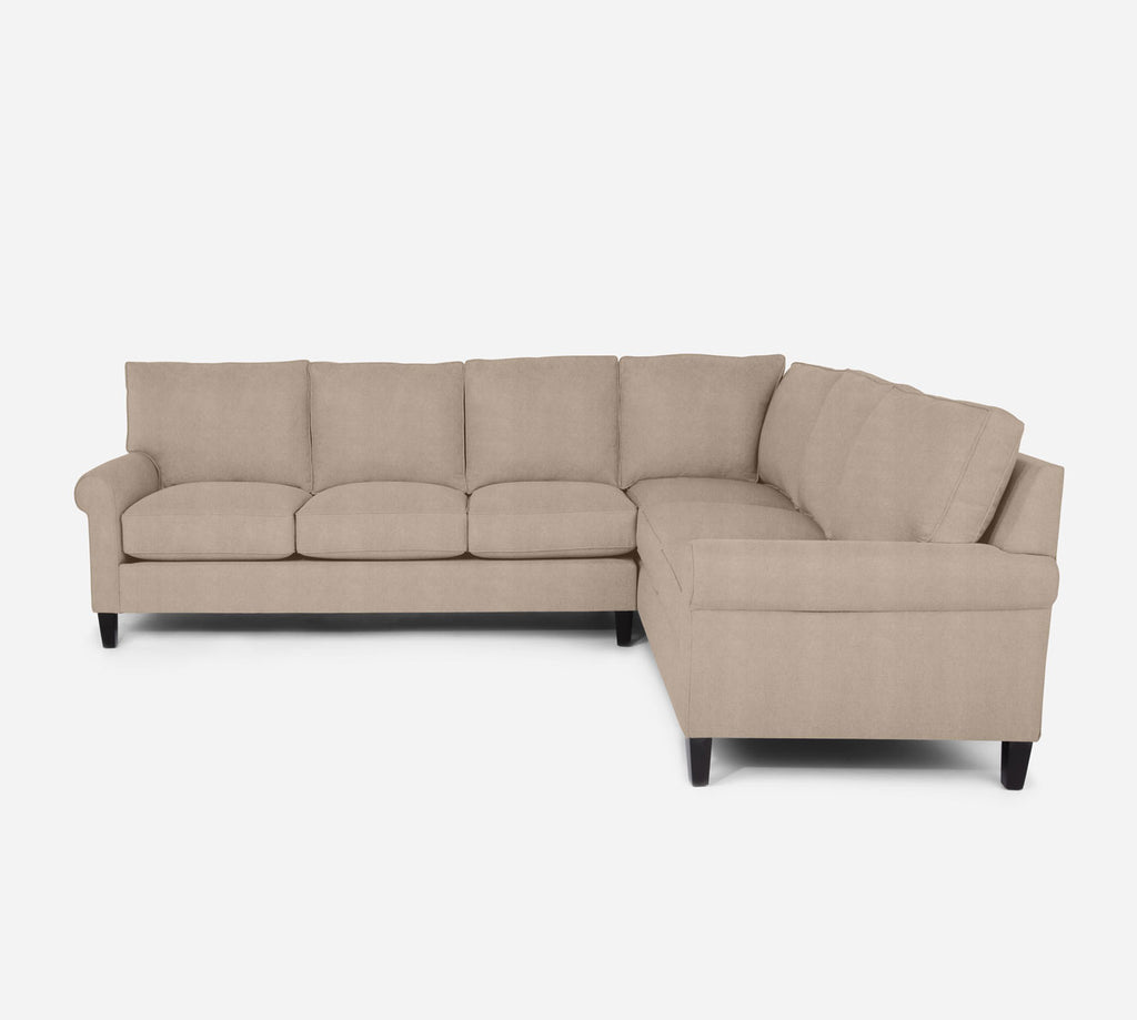 Soren LAF Large Corner Sectional - Passion Suede - Camel