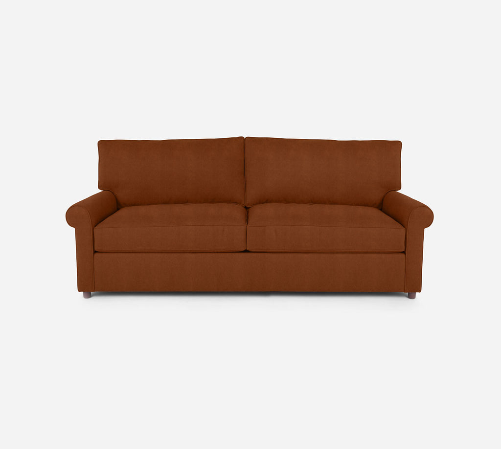 Soren 2 Seat Sleeper Sofa - Passion Suede - Rust