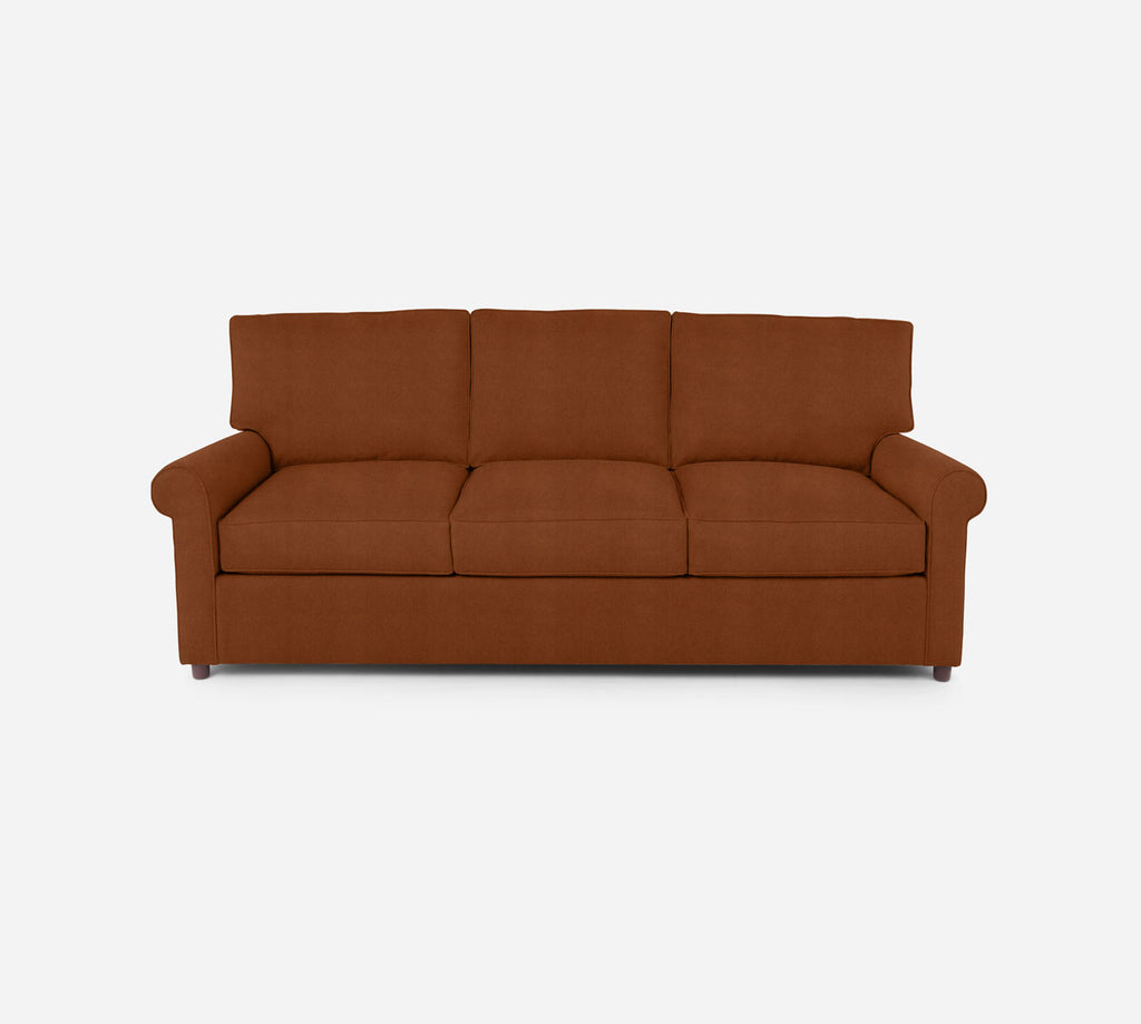 Soren 3 Seat Sleeper Sofa - Passion Suede - Rust