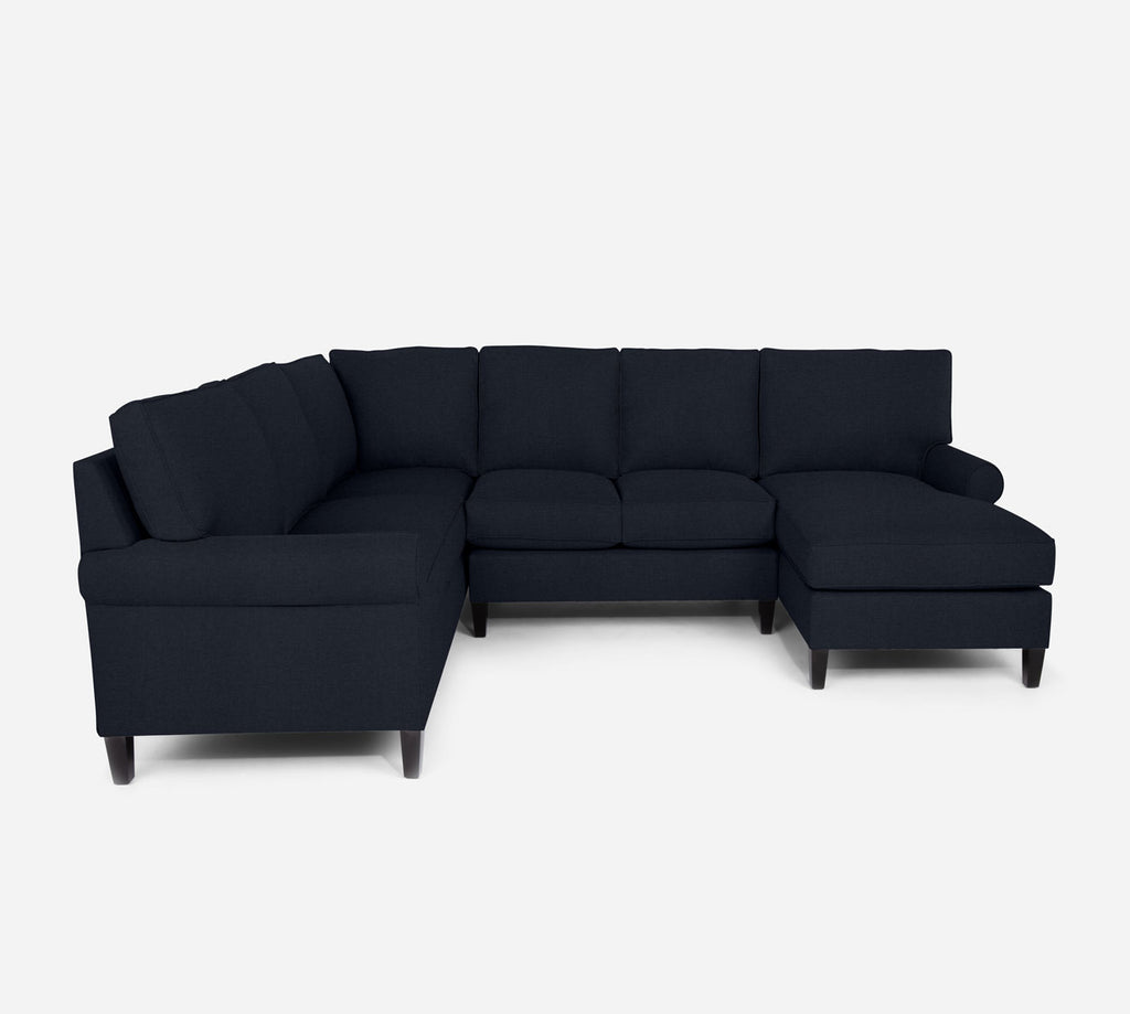Soren RAF Chaise Corner Sectional - Coastal - Sailor