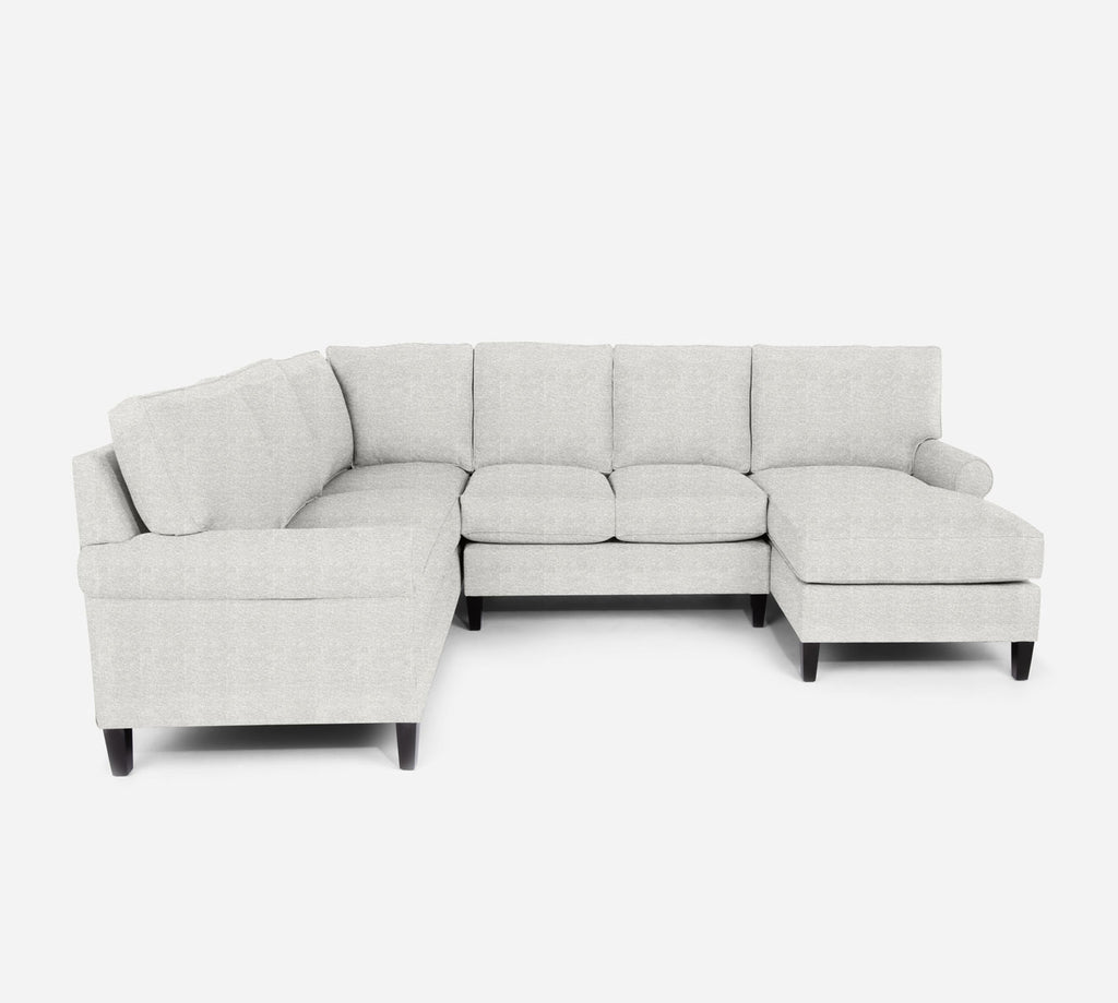 Soren RAF Chaise Corner Sectional - Stardust - Ivory