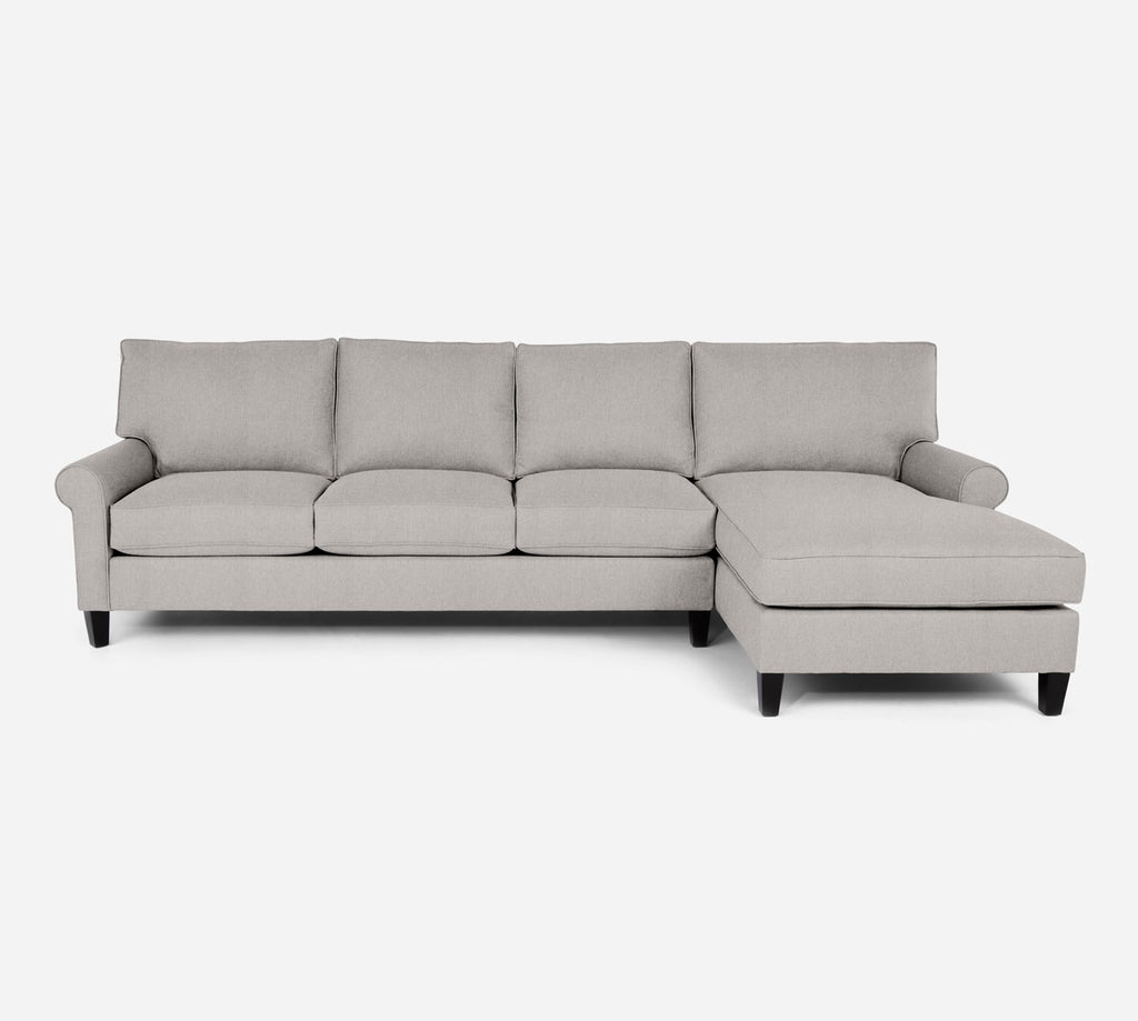 Soren RAF Chaise Sectional - Kenley - Moondust