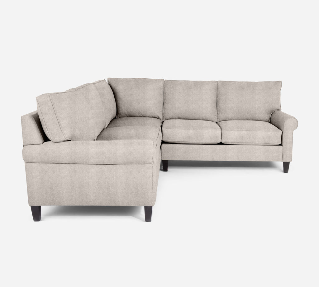 Soren RAF Corner Sectional - Passion Suede - Oyster