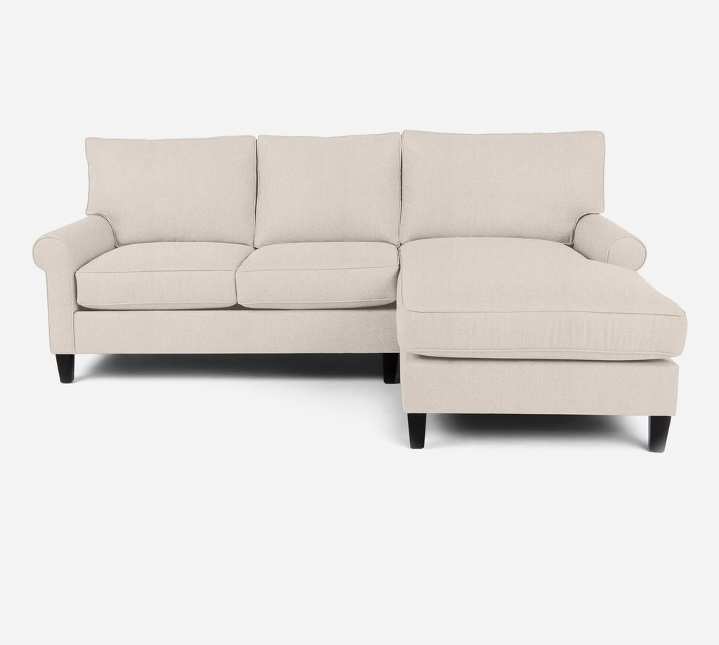 Soren Sectional Apartment Sofa w/ RAF Chaise - Kenley - Canvas