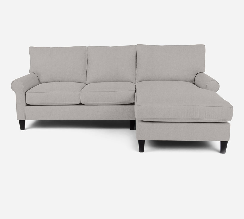 Soren Sectional Apartment Sofa w/ RAF Chaise - Kenley - Moondust