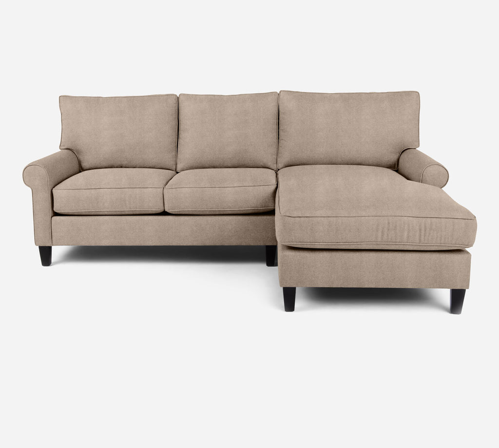Soren Sectional Apartment Sofa w/ RAF Chaise - Passion Suede - Camel