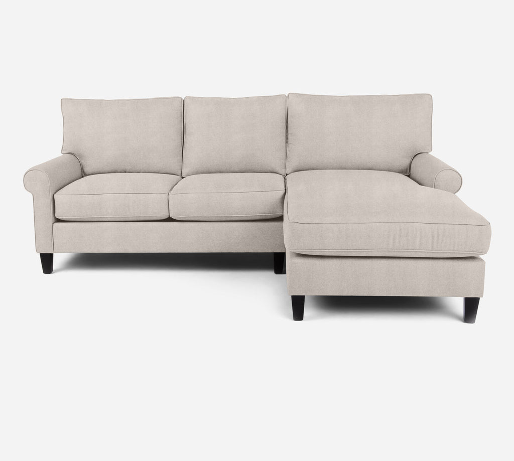 Soren Sectional Apartment Sofa w/ RAF Chaise - Passion Suede - Oyster