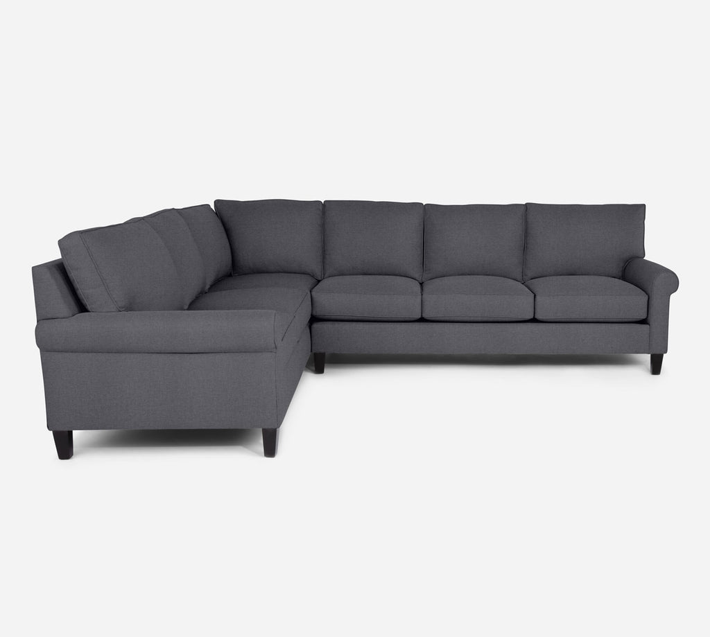 Soren RAF Large Corner Sectional - Coastal - Steel