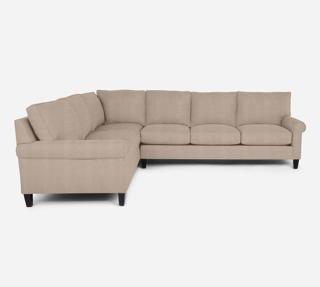 Soren RAF Large Corner Sectional - Passion Suede - Camel