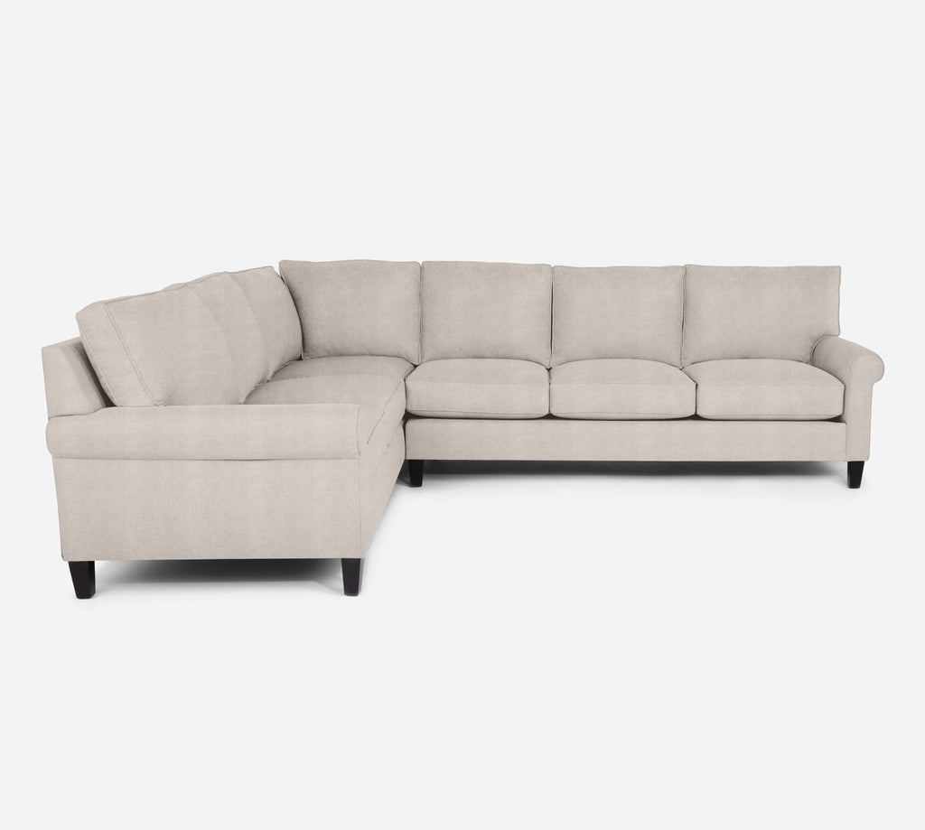 Soren RAF Large Corner Sectional - Passion Suede - Oyster