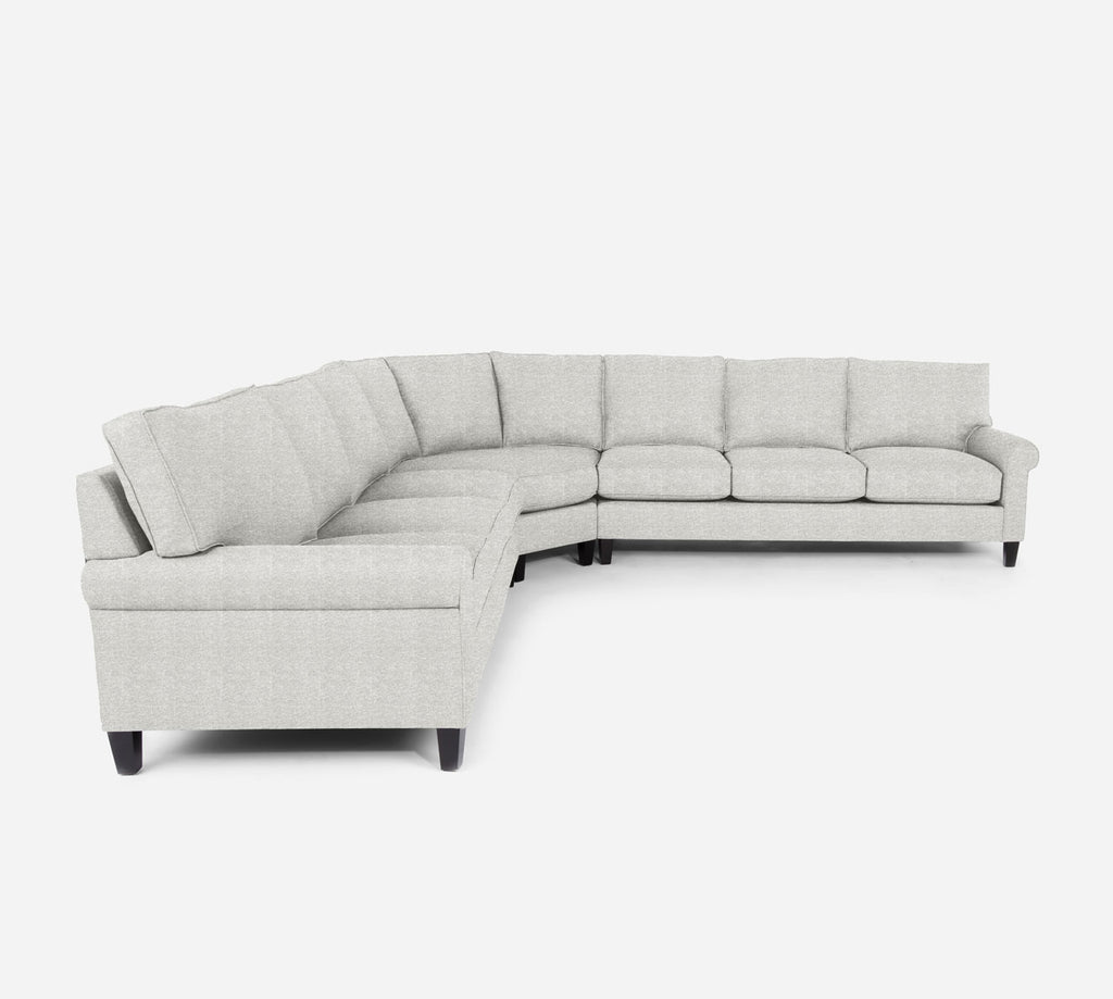 Soren Large Wedge Sectional - Stardust - Ivory