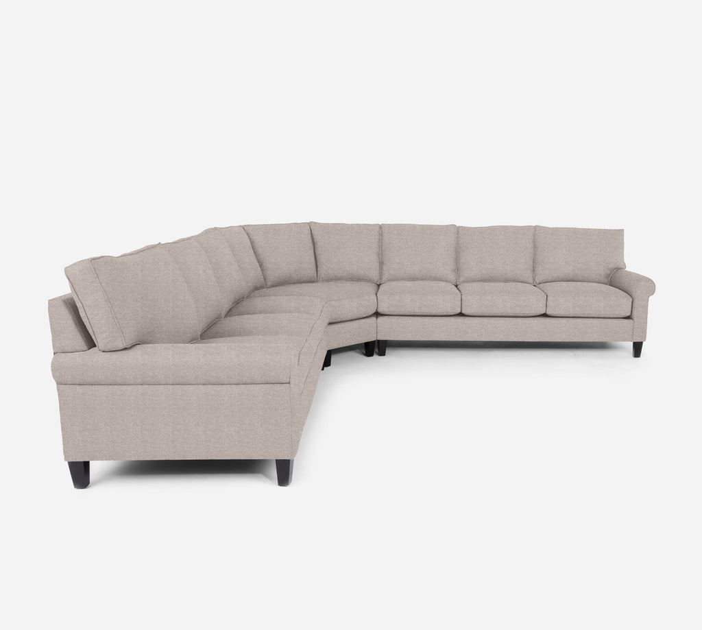 Soren Large Wedge Sectional - Stardust - Oatmeal