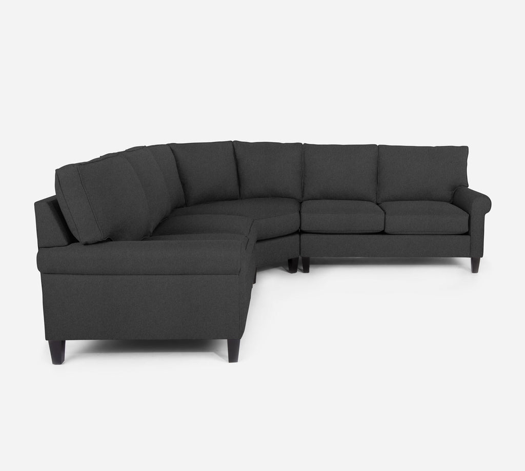 Soren Wedge Sectional - Dawson - Gunmetal