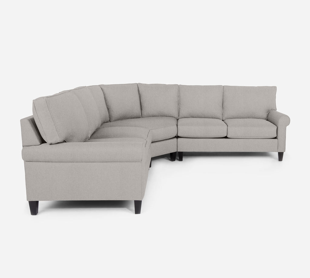 Soren Wedge Sectional - Kenley - Moondust