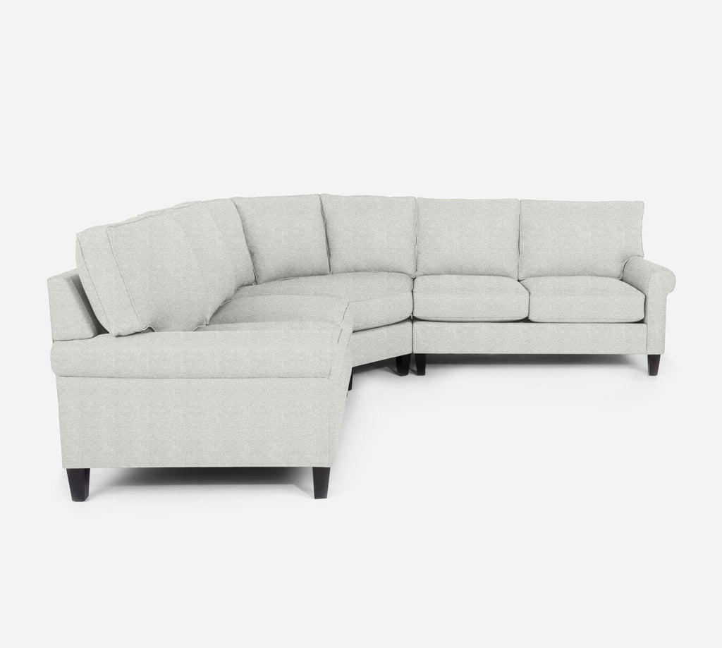 Soren Wedge Sectional - Stardust - Ivory