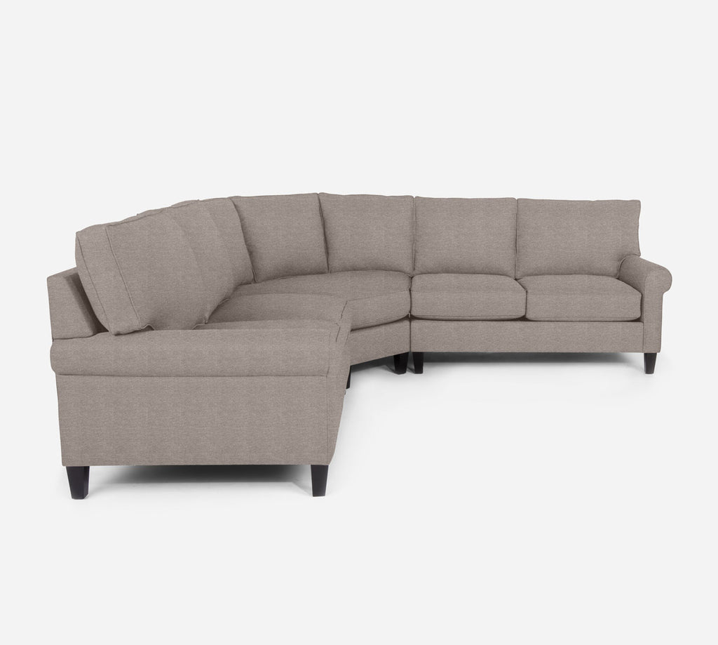 Soren Wedge Sectional - Stardust - Oatmeal