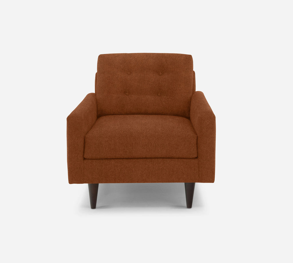 Taylor Chair - Passion Suede - Rust