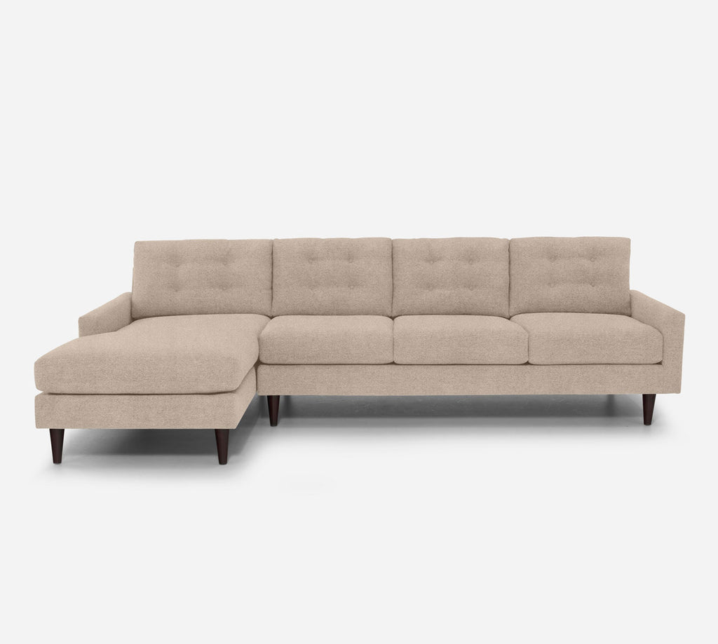 Taylor LAF Chaise Sectional - Passion Suede - Camel