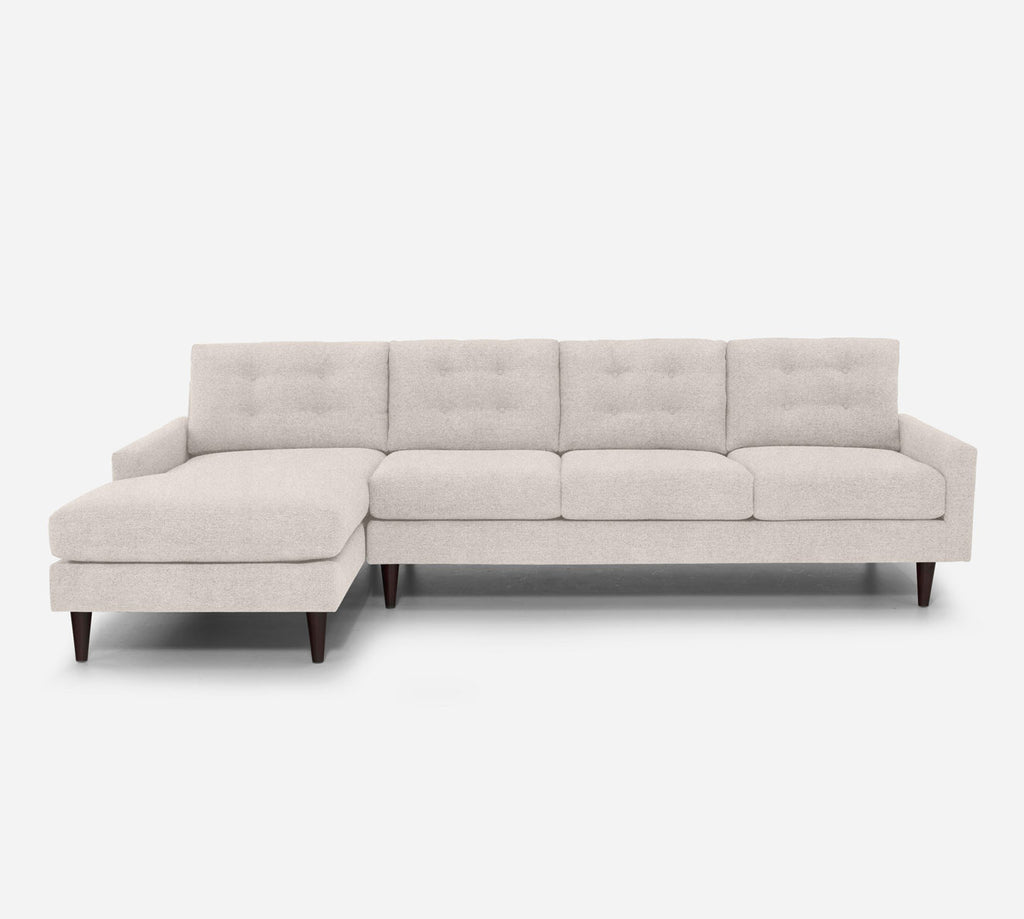 Taylor LAF Chaise Sectional - Passion Suede - Oyster
