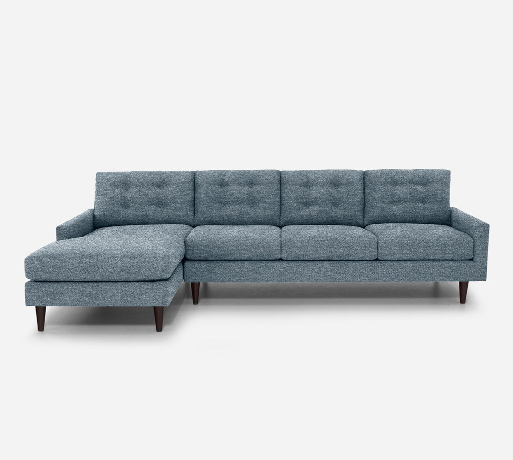 Taylor LAF Chaise Sectional - Stardust - Lapis