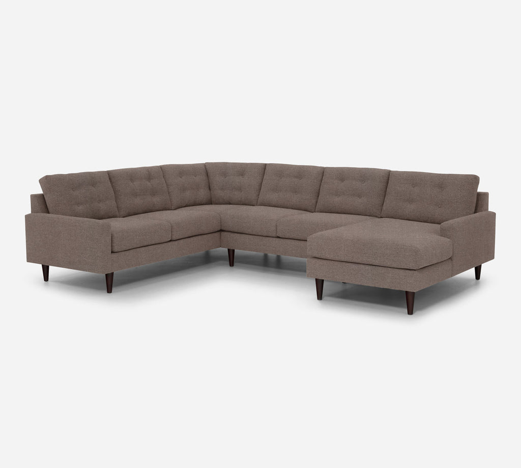 Taylor RAF Chaise Corner Sectional - Heritage - Pebble