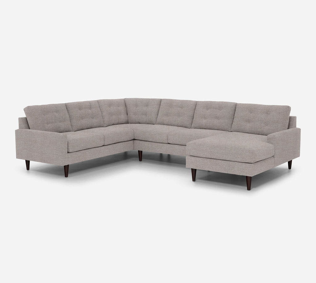 Taylor RAF Chaise Corner Sectional - Key Largo - Almond