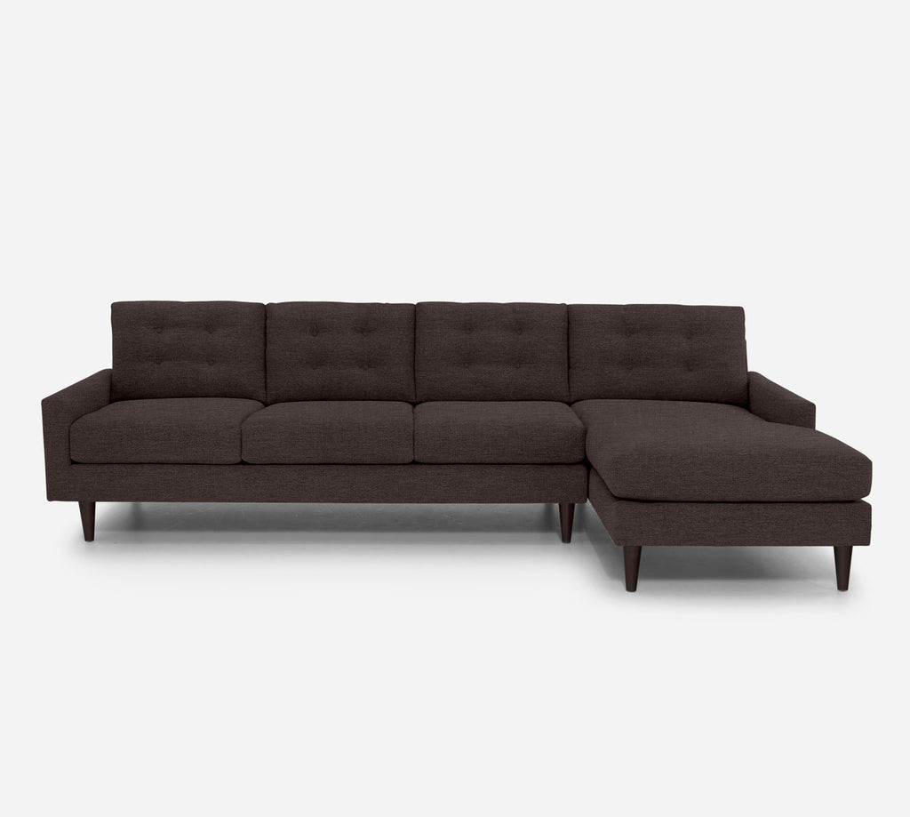 Taylor RAF Chaise Sectional - Key Largo - Mocha