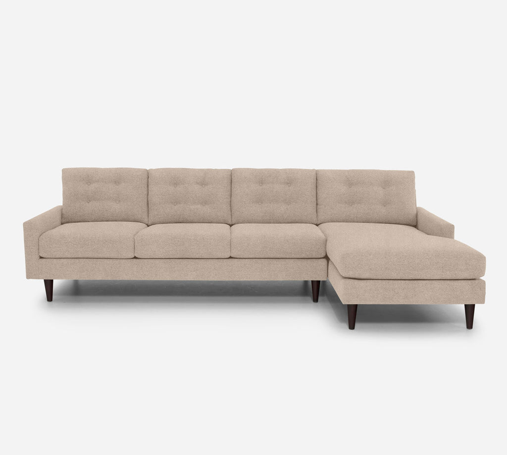 Taylor RAF Chaise Sectional - Passion Suede - Camel