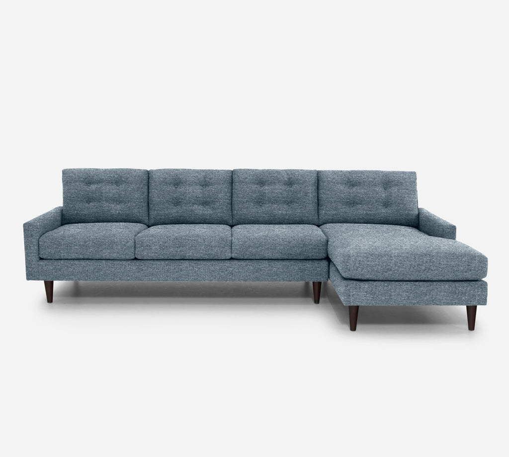 Taylor RAF Chaise Sectional - Stardust - Lapis