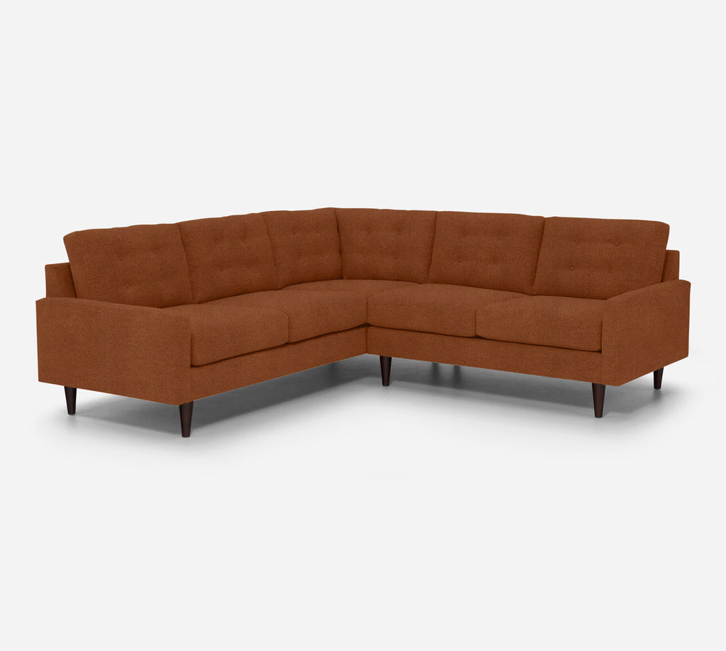 Taylor RAF Corner Sectional - Passion Suede - Rust