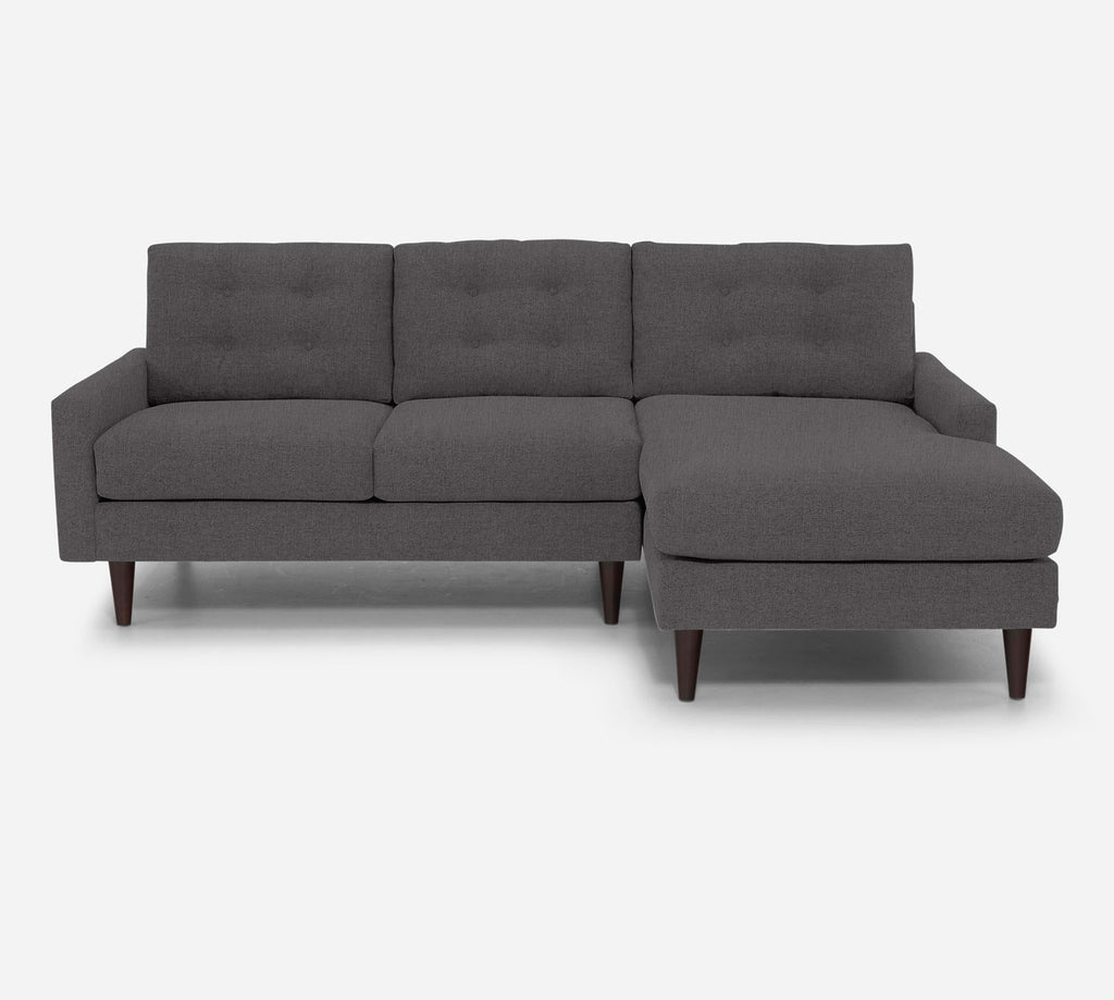 Taylor Sectional Apartment Sofa w/ RAF Chaise - Kenley - Silversage